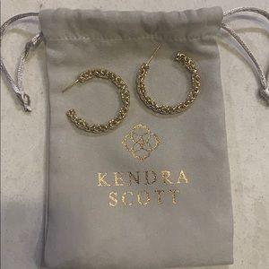 Gold kendra scott hoops